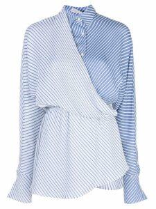 Palmer / Harding striped wrap shirt - Blue