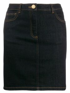 Boutique Moschino fitted denim skirt - Blue
