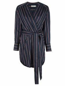 A.L.C. striped wrap dress - Blue