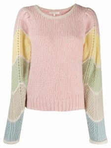 Love Shack Fancy slim-fit Aspyn jumper - Pink