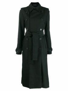 Rokh double breasted trench coat - Black