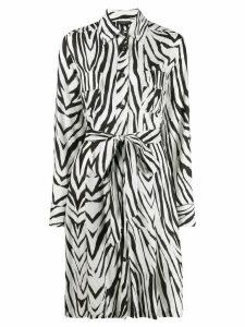 Antonelli zebra-print waisted shirt dress - White