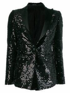 Tagliatore Gilda sequin blazer - Black
