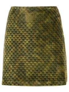 Ultràchic textured scale print skirt - Green