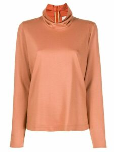 Forte Forte ruffled-neck blouse - Neutrals