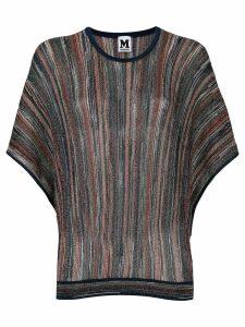 M Missoni shimmer knit jumper - Blue