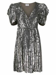 P.A.R.O.S.H. short sleeve embellished dress - Metallic