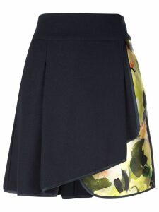 Harvey Faircloth pleated floral skirt - Blue