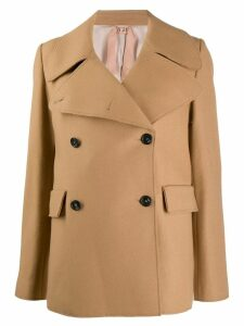 Nº21 oversized collar peacoat - Neutrals
