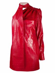 MSGM crocodile effect mini dress - Red