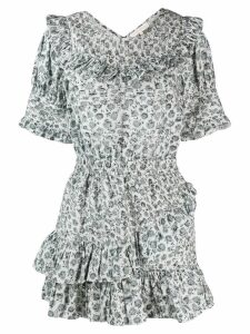 Love Shack Fancy short Floreen dress - Grey