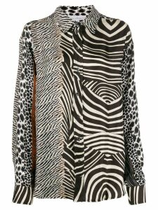 Pierre-Louis Mascia animal print shirt - Black