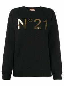 Nº21 logo print sweatshirt - Black