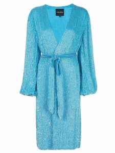 Retrofete sequin wrap dress - Blue