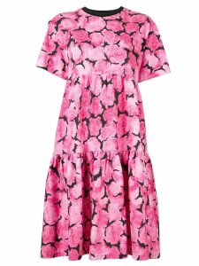 Kenzo floral print flared dress - Pink