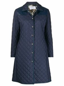 Salvatore Ferragamo quilted mid-length coat - Blue