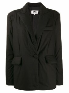 Mm6 Maison Margiela ruched front blazer - Black