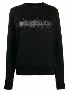 John Richmond embellished logo sweatshirt - Black