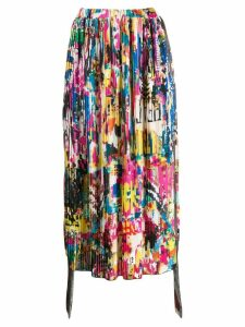 Ultràchic abstract print pleated skirt - Pink