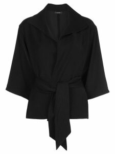 Natori relaxed-fit wrap-style top - Black