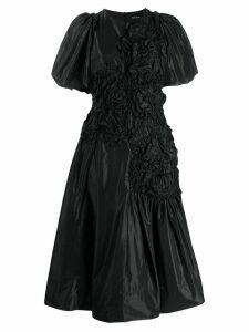 Simone Rocha ruched midi dress - Black