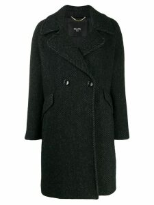 Paltò double-breasted coat - Black