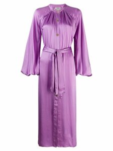 Forte Forte satin shirt dress - Purple