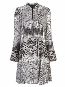 Natori short snakeskin print dress - Grey