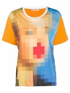 Marni digital print oversized t-shirt - Orange