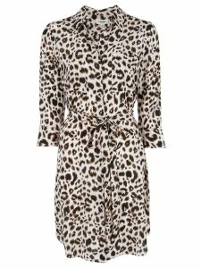 L'Agence leopard print shirt dress - NEUTRALS