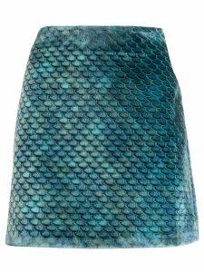 Ultràchic textured scale print skirt - Blue