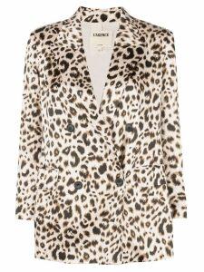 L'agence leopard print blazer - Neutrals