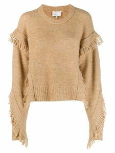 3.1 Phillip Lim fringed knitted jumper - Neutrals