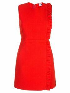MSGM ruffle short dress - Red