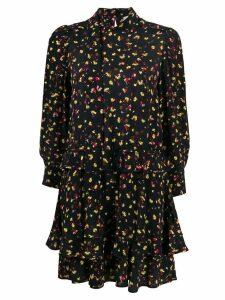 Dorothee Schumacher long sleeve floral print dress - Black