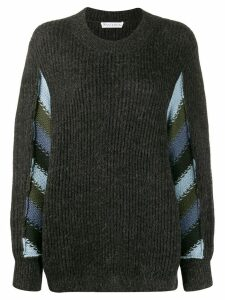 JW Anderson horizontal striped knitted sweater - Grey