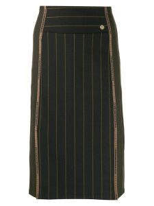 Versace Collection pinstripe pencil skirt - Green
