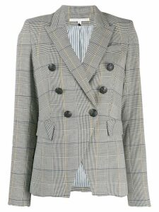 Veronica Beard double-breasted plaid blazer - White