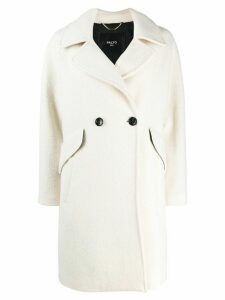 Paltò double-breasted coat - White