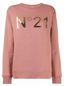 Nº21 logo print sweatshirt - Pink