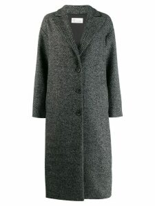 Red Valentino oversized herringbone coat - Black