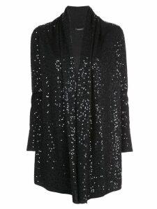 Natori loose-fit sequin-embellished cardigan - Black