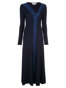 Gabriela Hearst wool pleated dress - Blue