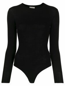 Forte Forte crew-neck knit bodysuit - Black