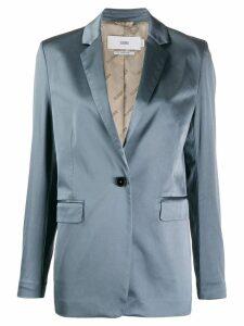 Closed plain sheen blazer - Blue