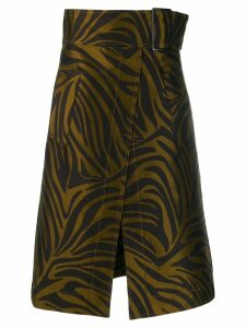 3.1 Phillip Lim tiger print A-line skirt - Brown