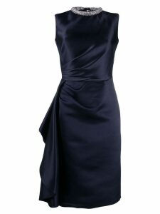 Alexander McQueen crystal embellished dress - Blue