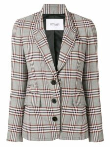 Derek Lam 10 Crosby plaid blazer - Grey