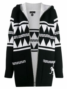 Alanui hooded knit cardi-coat - Black
