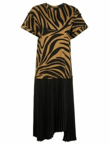 3.1 Phillip Lim zebra print T-shirt dress - Brown